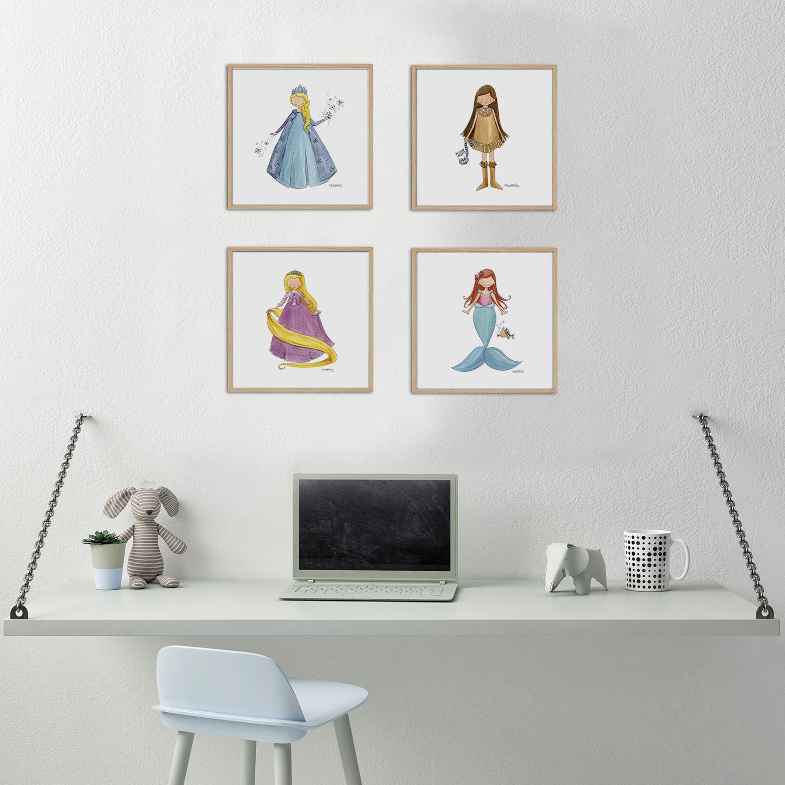 princesas - Cuadro Princesas Frozen Pequeño