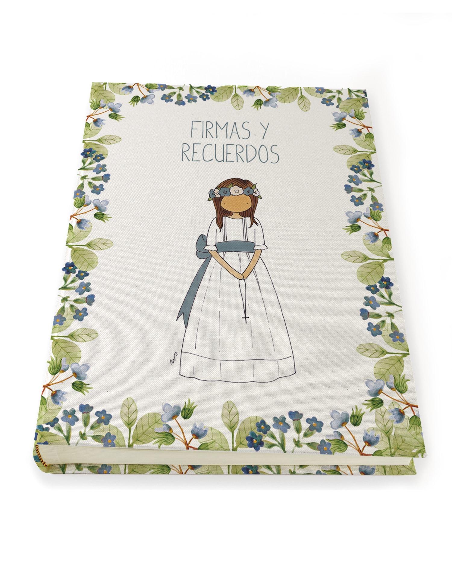 A3 NÑA9 PETIFLOR AZUL min - Libro de Firmas Clara Petit Flor Azul