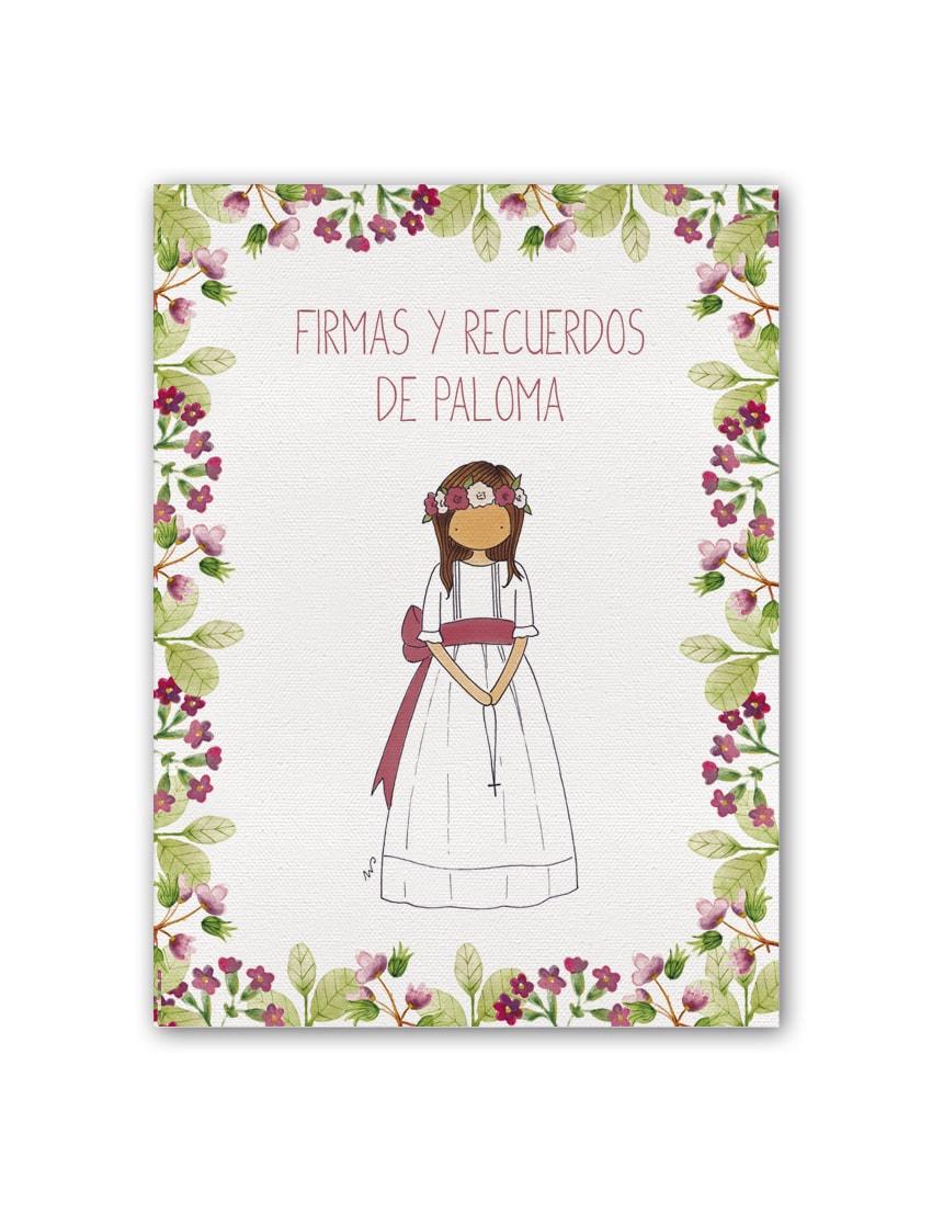 A3 NÑA9 PTF PLANA min - Libro de Firmas Clara Petit Flor Fresa