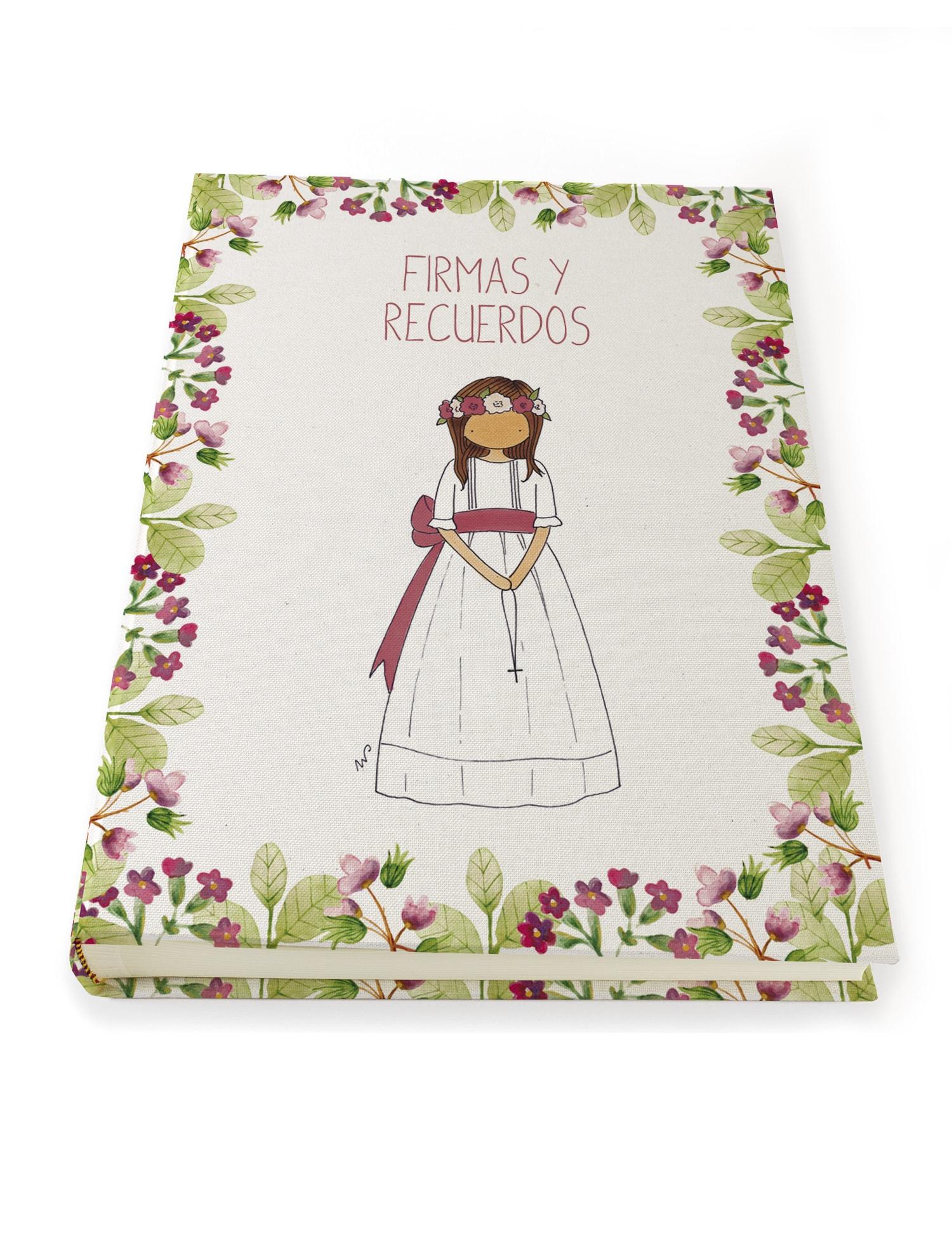 A3 NÑA9PTF min - Libro de Firmas Clara Petit Flor Fresa