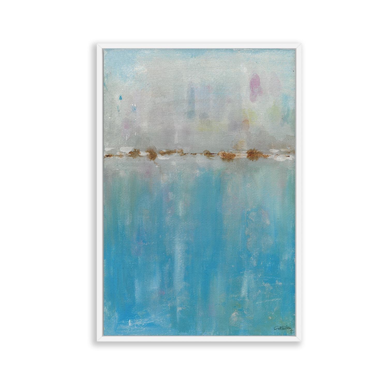 Cuadro abstracto azul Profundo