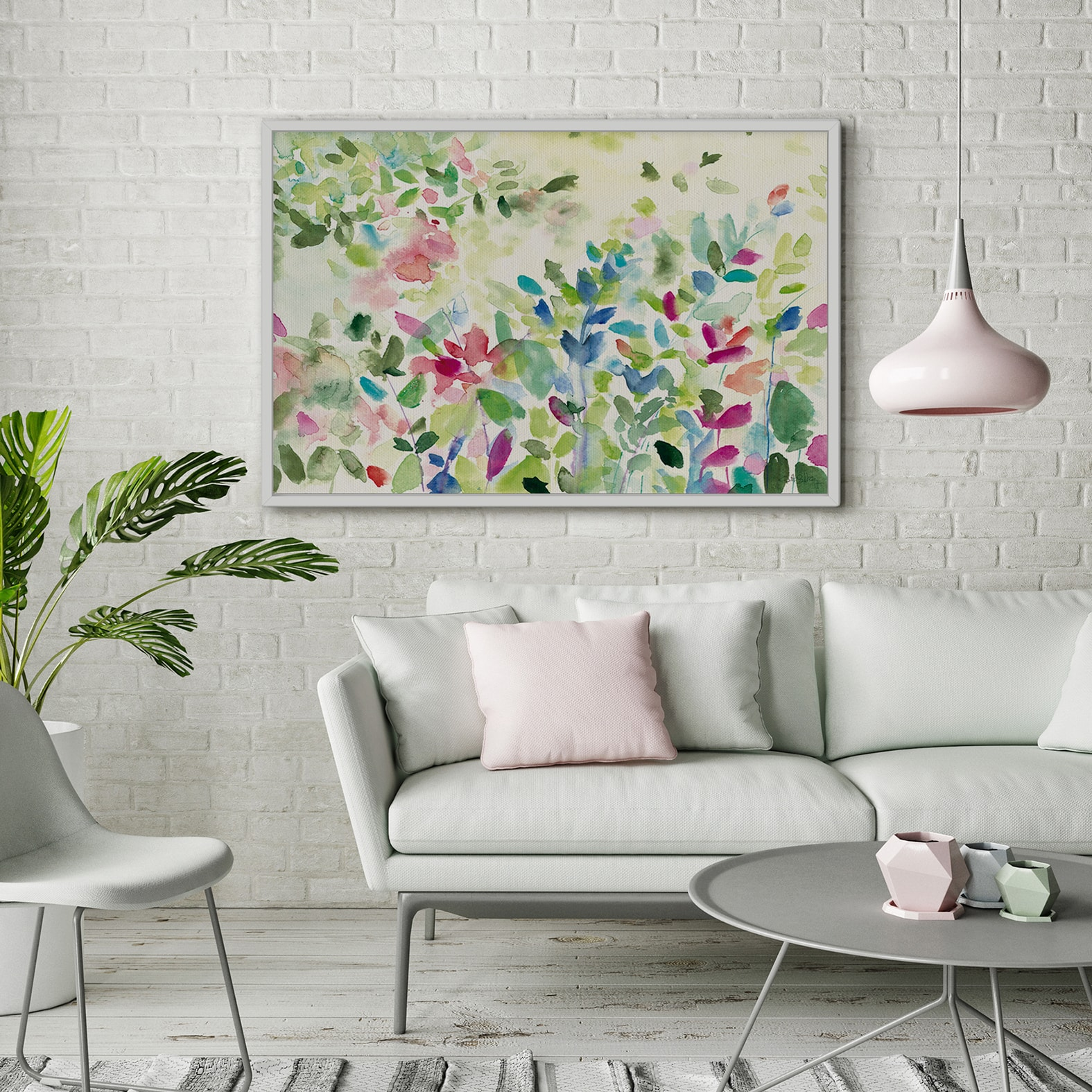 Cuadro Natura Jardin de primavera multicolor