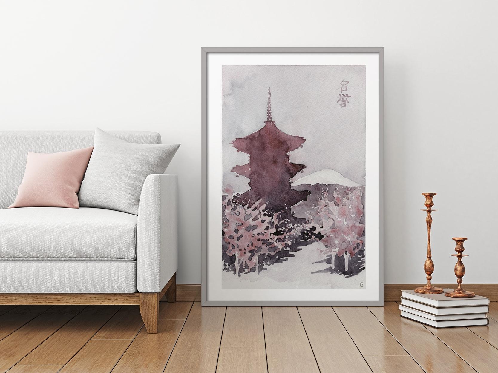 Cuadro Pagoda I en ambiente