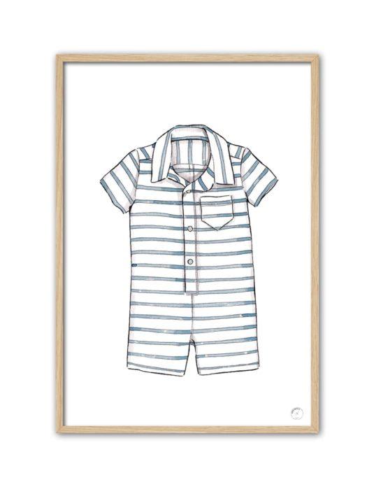 Cuadro pijama de rayas