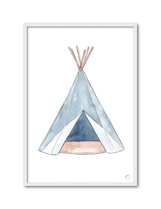 Cuadro Tipi azul