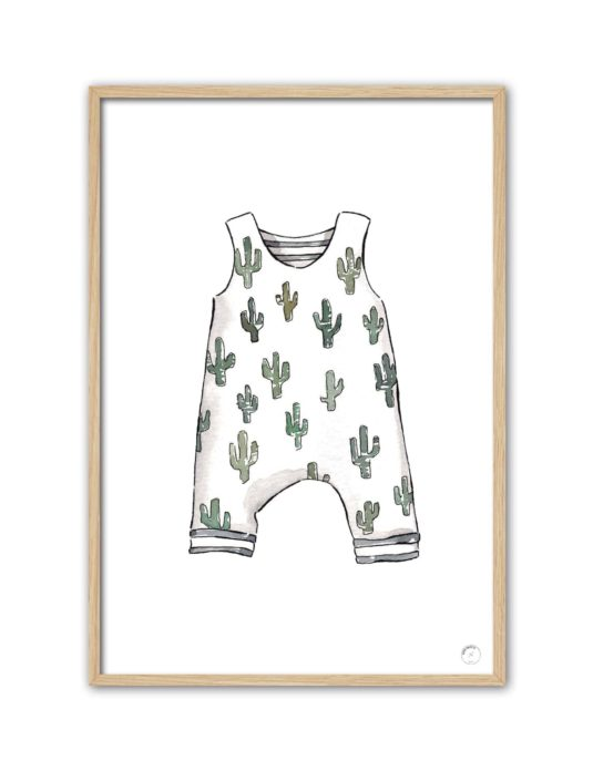 Cuadro Mono cactus