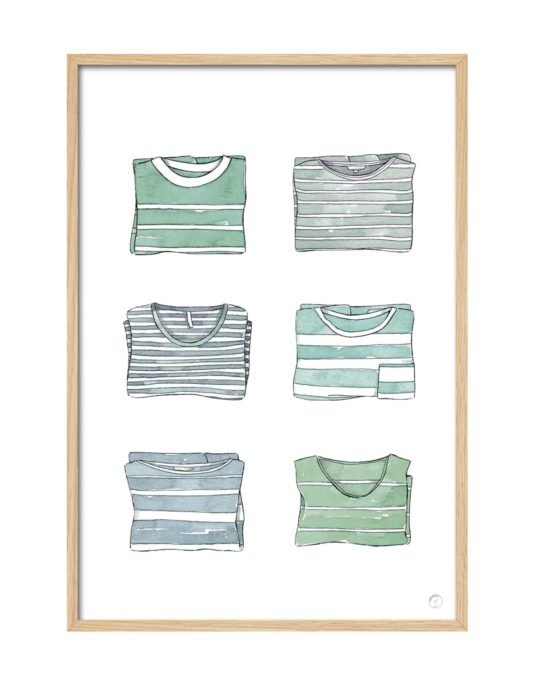 Cuadro camisetas rayas