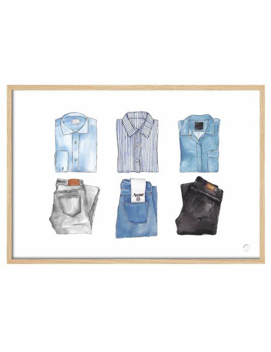 Cuadro Camisas y pantalones