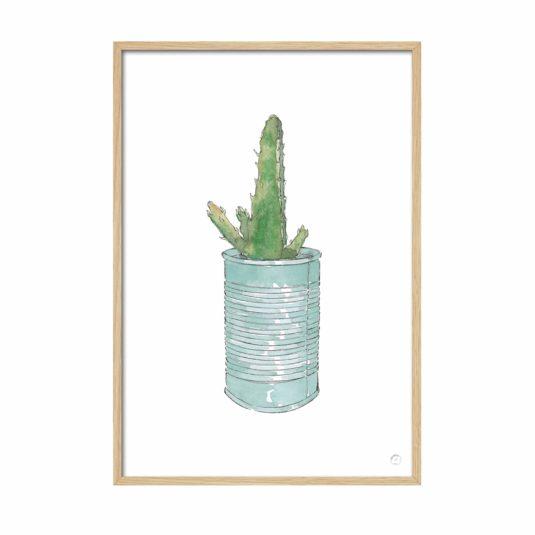 Cuadro cactus lata