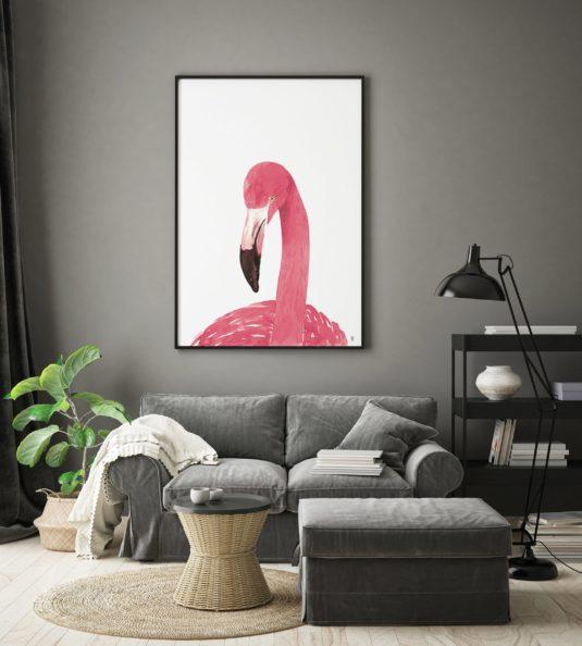 CE371 AMB2 min 535x594 - Pink Flamingo Portrait